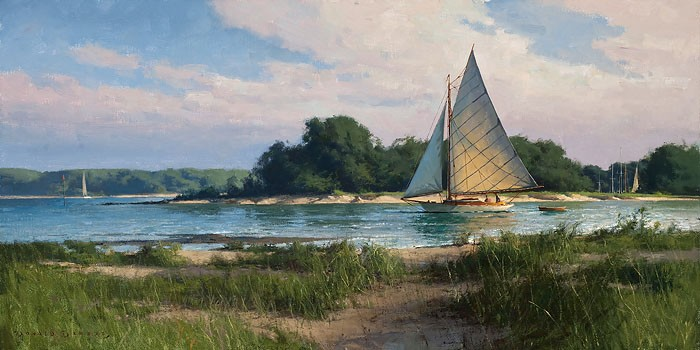 Don Demers Passing the Island Giclee On Canvas