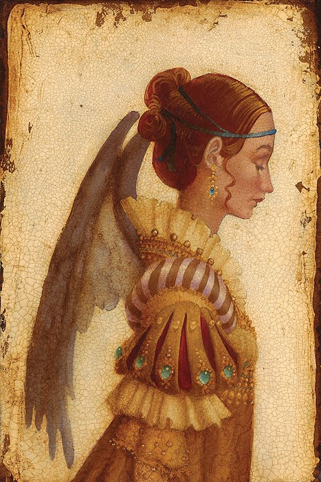 James Christensen Portrait of Isabella Grimaldi as an Angel Giclee On Canvas