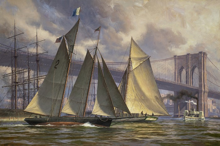 Don DemersPHANTOM, Outbound from New York, c 1890