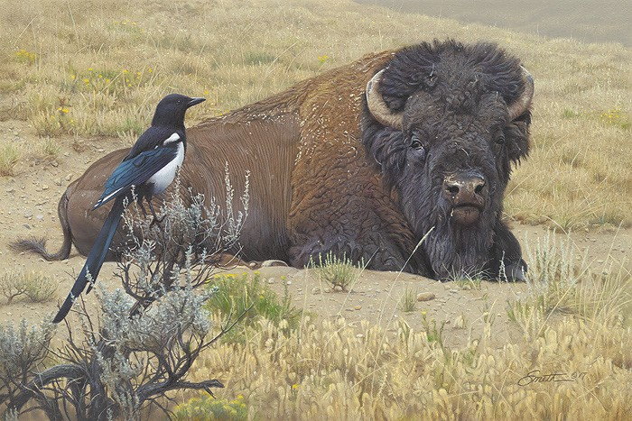 Daniel Smith Prairie Home Companions Giclee On Canvas