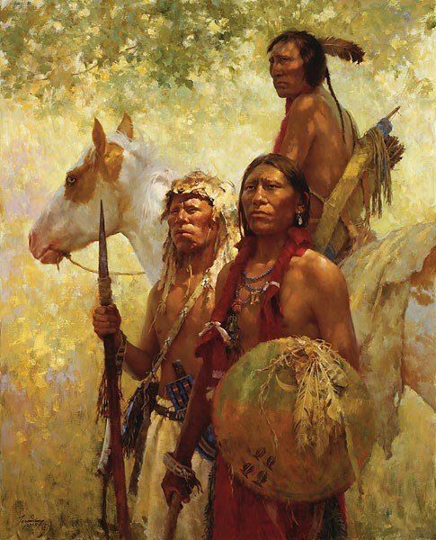 Howard Terpning PROTECTORS OF THE CHEYENNE PEOPLE Giclee On Canvas Artist Proof