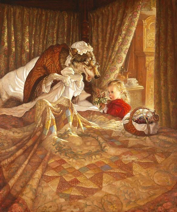 Scott GustafsonLittle Red Riding Hood AnniversaryGiclee On Canvas