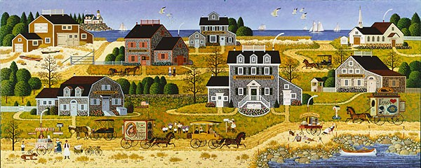 Charles Wysocki Salty Witch Bay ANNIVERSARY EDITION Giclee On Canvas