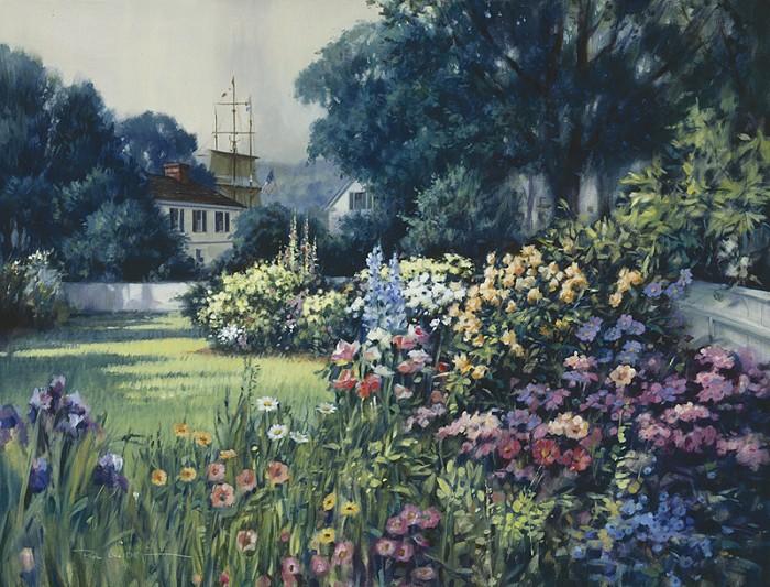 Paul LandrySeaport Garden, MysticGiclee On Canvas