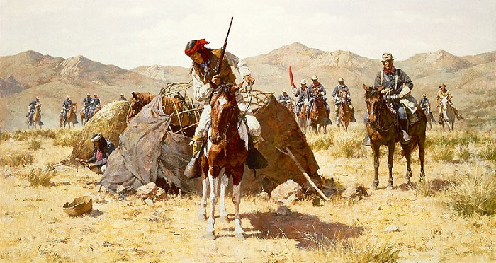 Howard Terpning THE SECOND GERONIMO CAMPAIGN Giclee On Canvas Artist Proof