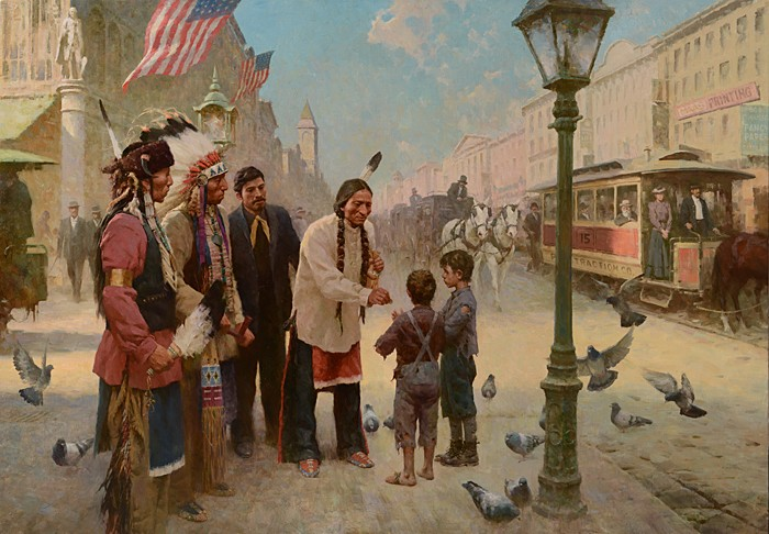 Z.S.  Liang Sitting Bull's Kindness, Philadelphia, 1885 (Master Works) Giclee On Canvas