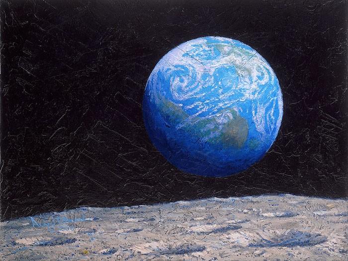 Alan BeanThe Source of Intelligent LifeGiclee On Canvas