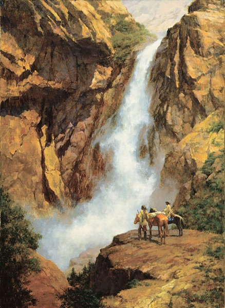 Howard Terpning WHERE SPIRITS DWELL Giclee On Canvas Artist Proof