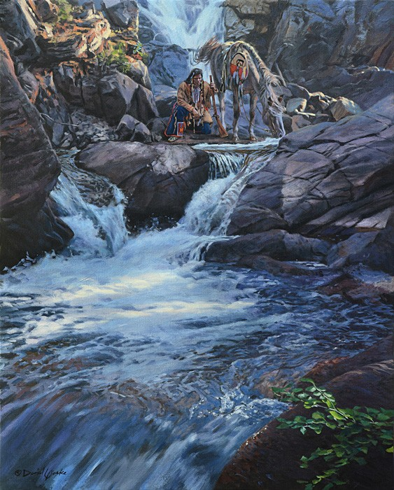 David Yorke The Waters Speak Giclee On Canvas