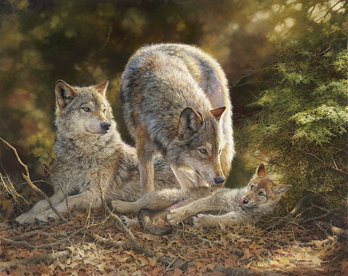 Bonnie MarrisTroubleGiclee On Canvas