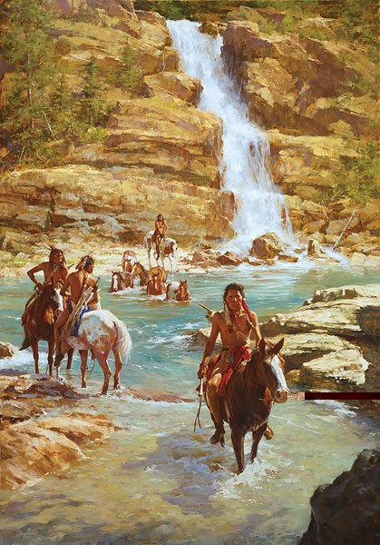 Howard Terpning VANISHING PONY TRACKS Giclee On Canvas Artist Proof