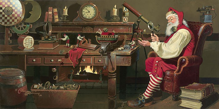 Dean MorriseySt. Nicholas: Work Day's EndGiclee On Canvas