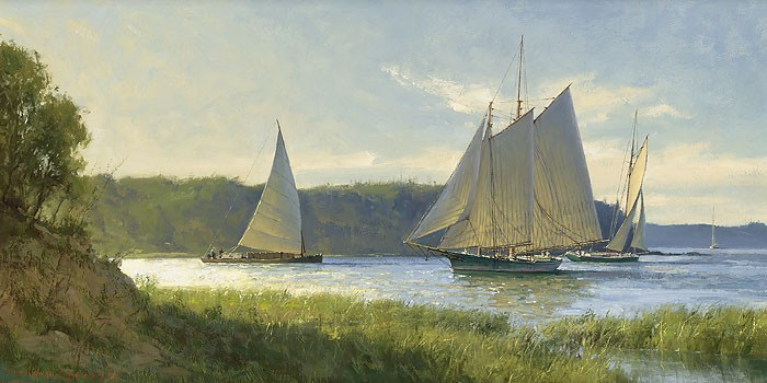 Don Demers Working the River Giclee On Canvas