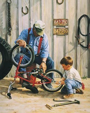 Tom SierakGrandson's Helper Canvas Giclee