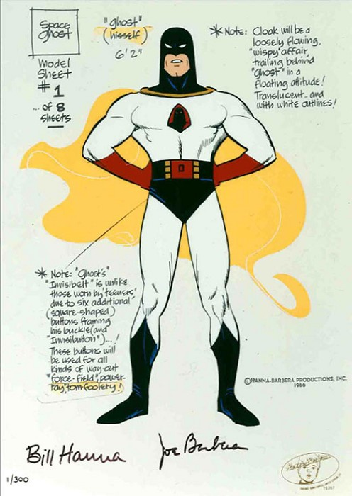Hanna & Barbera Space Ghost Model Sheet Hand-Painted Limited Edition Cel