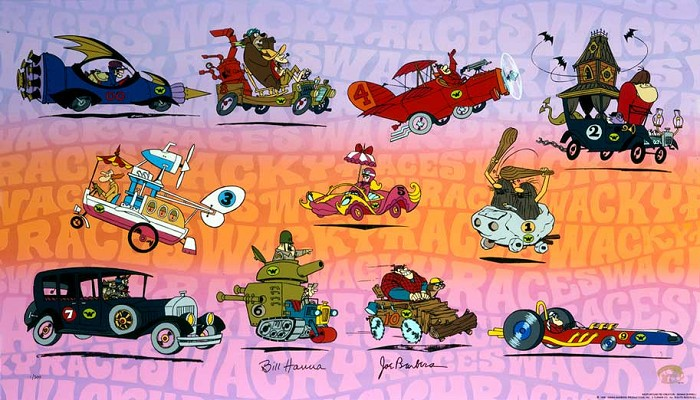Hanna & Barbera Wacky Races Hand-Painted Limited Edition Cel
