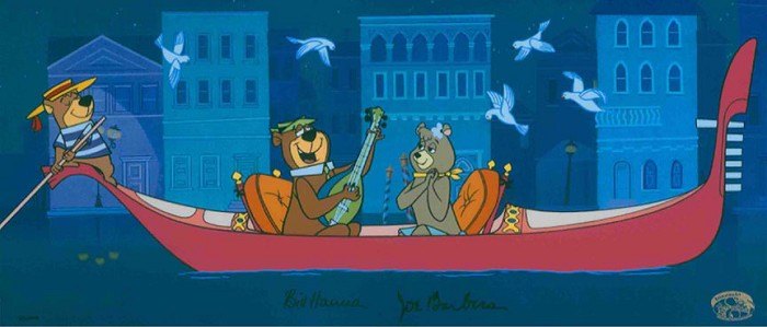 Hanna & Barbera Hey There, It's Yogi Bear! Hand-Painted Limited Edition Cel