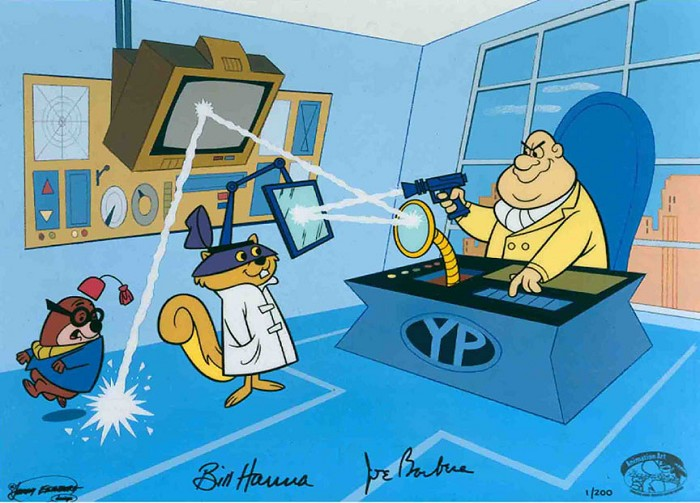 Hanna & Barbera Yellow Pinkie Hand-Painted Limited Edition Cel