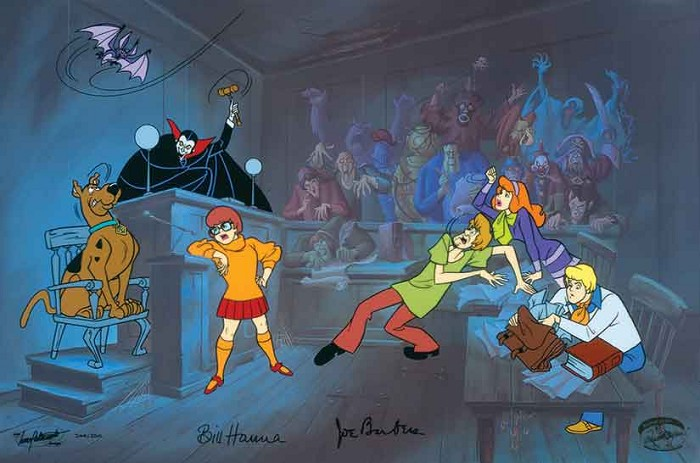 Hanna & Barbera Witless for the Prosecution From Scooby-Doo Hand-Painted Limited Edition Cel
