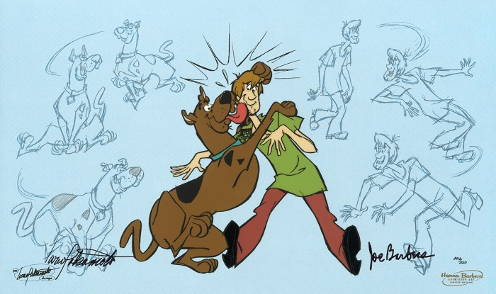 Hanna & Barbera And Scooby-Doo Makes Two Hand-Painted Limited Edition Cel