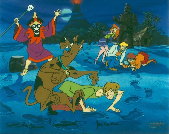 Hanna & BarberaA Tiki Scare is No FairHand-Painted Limited Edition Cel