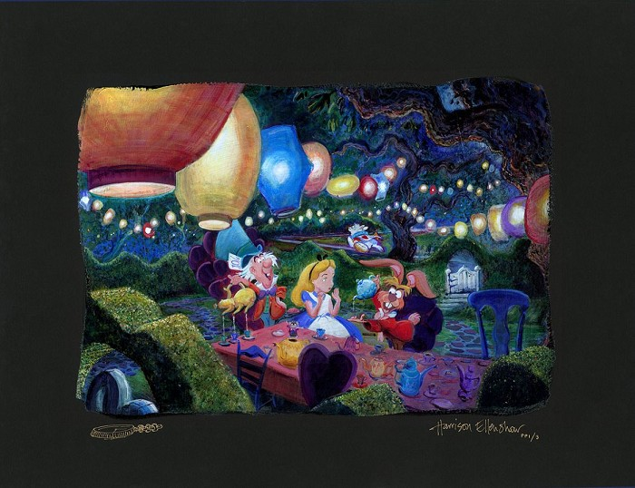 Harrison EllenshawMad Hatters Tea Party - From Disney Alice in WonderlandHand-Embellished Giclee on Canvas