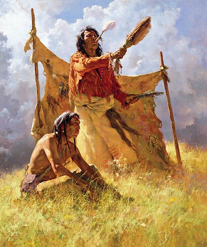 Howard Terpning THE WEATHER DANCER DREAM Lithograph