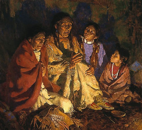 Howard Terpning GRANDFATHER SPEAKS Canvas