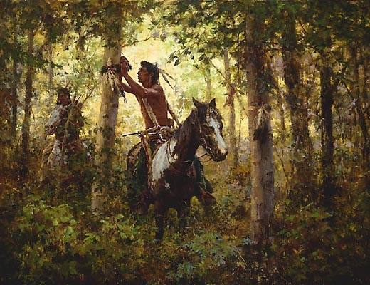 Howard Terpning OFFERINGS TO SUN Canvas