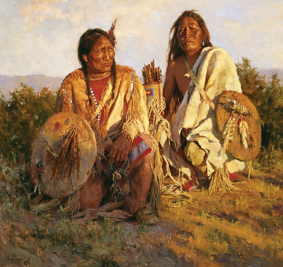 Howard Terpning Medicine Shields of the Blackfoot Canvas
