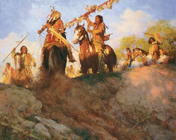 Howard Terpning Sunset for the Comanche MASTERWORK Canvas