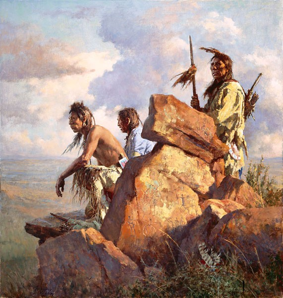 Howard Terpning Among the Spirits of the Long-Ago People Canvas