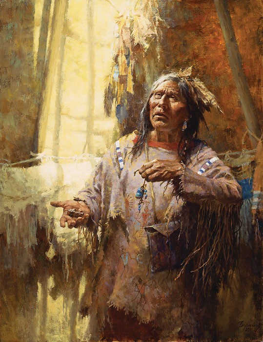 Howard Terpning Calling the Buffalo Limited Edition Giclee On Canvas