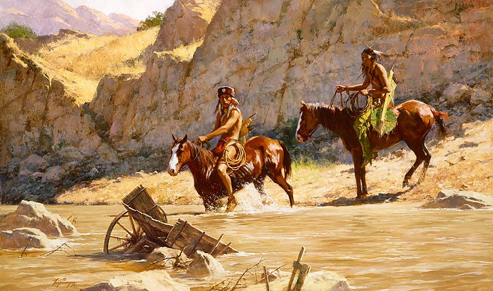 Howard Terpning The Rivers Gift MASTERWORK EDITION ON Canvas