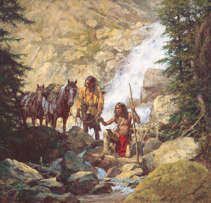 Howard Terpning The Trackers Canvas