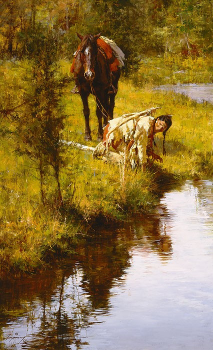 Howard Terpning Caution Born of Necessity Canvas