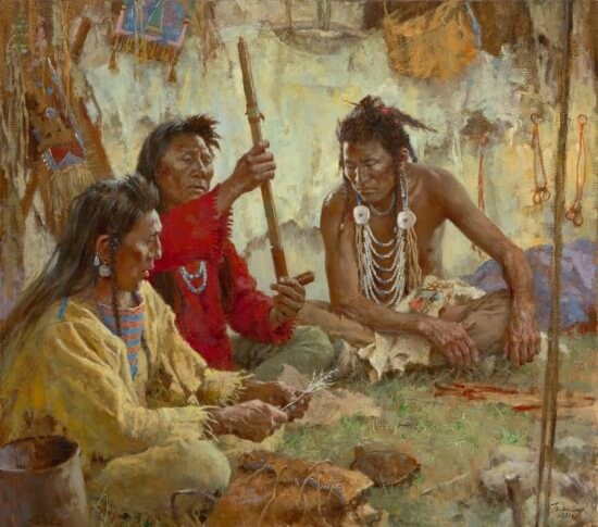 Howard Terpning Seeking Guidance from the Great Spirit Giclee On Canvas Artist Proof
