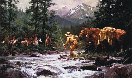 Howard Terpning They Came From Nowhere Giclee On Canvas Artist Proof