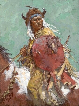 Howard Terpning Cheyenne Red Shield Lithograph
