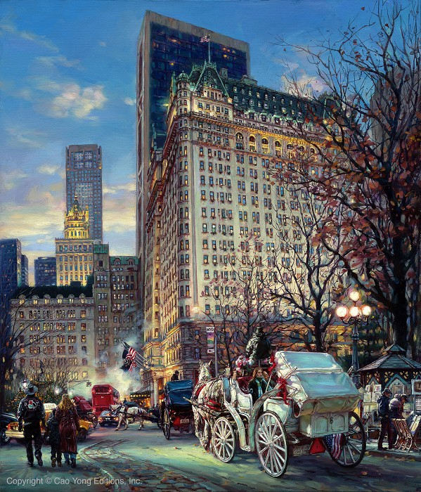Cao YongThe Heartbeat Of NyGiclee On Canvas The Grand American Series