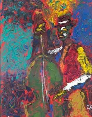 Ted Ellis Bass Man Giclee On Paper