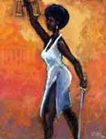 Ted Ellis Lady Justice Giclee On Paper