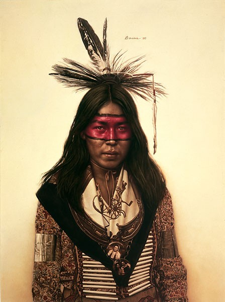 James BamaYoung Indian DancerGiclee On Canvas