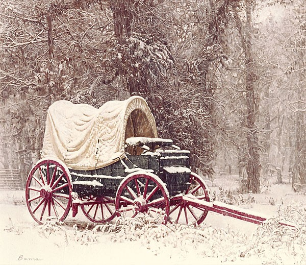 James Bama Chuck Wagon in the Snow ANNIVERSARY EDITION ON Canvas