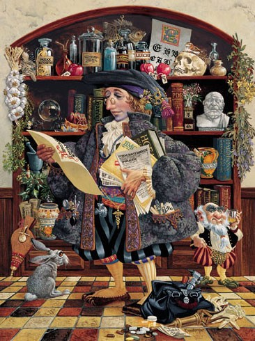 James Christensen THE OATH Lithograph