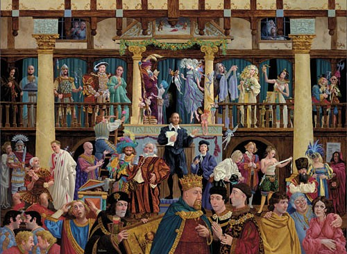 James Christensen All The World's A Stage Print