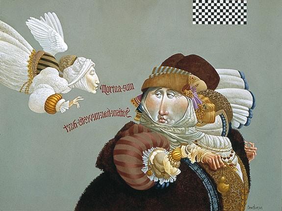 James ChristensenVisitation/preoccupation Limited Edition Canvas
