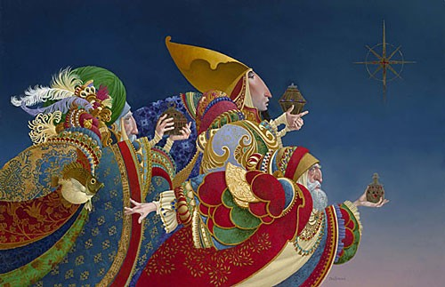 James Christensen WE THREE KINGS Canvas