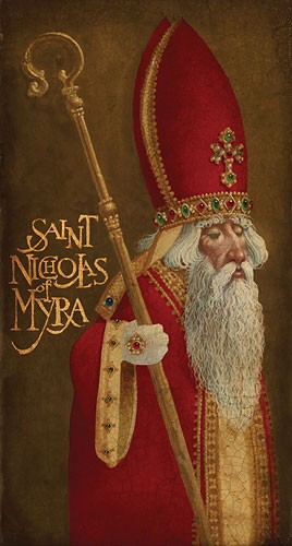 James Christensen St. Nicholas Of Myra Limited Edition Canvas