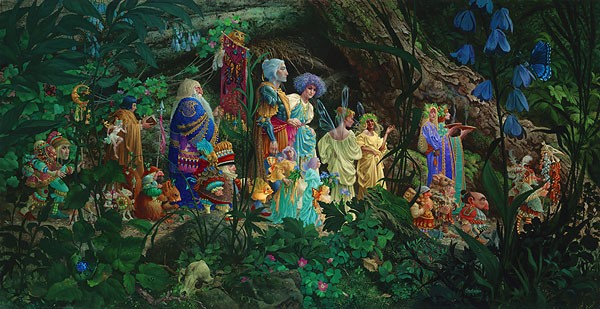 James Christensen The Royal Processional Masterwork Canvas Edition